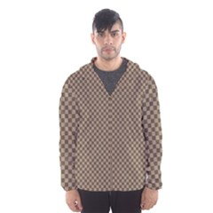 Pattern Background Diamonds Plaid Hooded Wind Breaker (men)