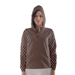 Pattern Background Diamonds Plaid Hooded Wind Breaker (women)