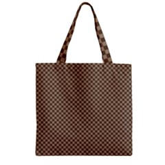 Pattern Background Diamonds Plaid Zipper Grocery Tote Bag