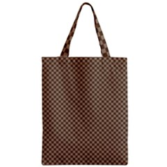 Pattern Background Diamonds Plaid Zipper Classic Tote Bag
