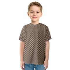 Pattern Background Diamonds Plaid Kids  Sport Mesh Tee