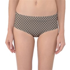 Pattern Background Diamonds Plaid Mid Waist Bikini Bottoms