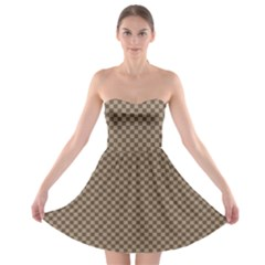 Pattern Background Diamonds Plaid Strapless Bra Top Dress