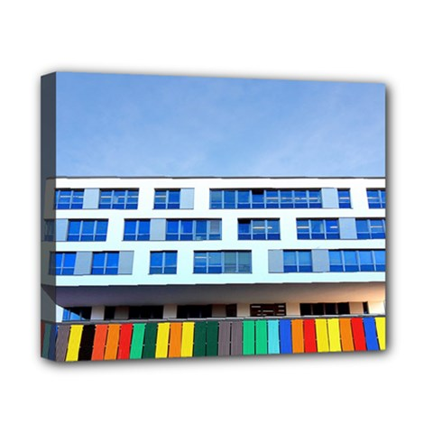 Office Building Canvas 10  X 8