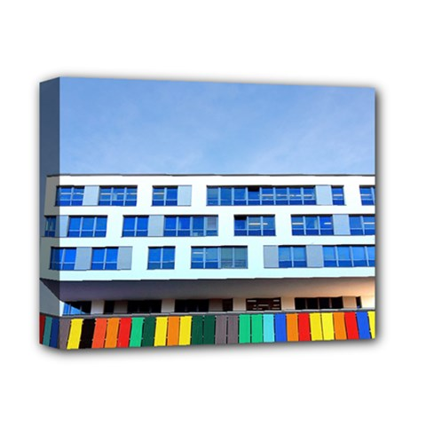 Office Building Deluxe Canvas 14  X 11