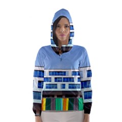 Office Building Hooded Wind Breaker (women)