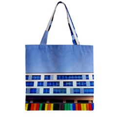 Office Building Zipper Grocery Tote Bag
