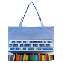 Office Building Medium Zipper Tote Bag