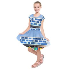 Office Building Kids  Short Sleeve Dress