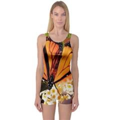 Monarch Butterfly Nature Orange One Piece Boyleg Swimsuit