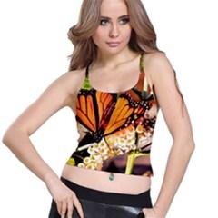Monarch Butterfly Nature Orange Spaghetti Strap Bra Top
