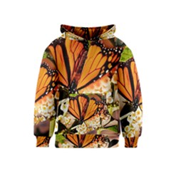 Monarch Butterfly Nature Orange Kids  Pullover Hoodie