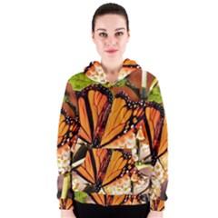 Monarch Butterfly Nature Orange Women s Zipper Hoodie