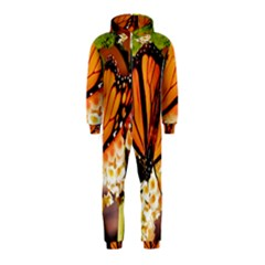 Monarch Butterfly Nature Orange Hooded Jumpsuit (kids)