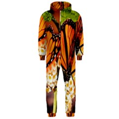 Monarch Butterfly Nature Orange Hooded Jumpsuit (men)
