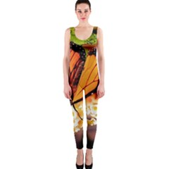 Monarch Butterfly Nature Orange Onepiece Catsuit