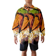 Monarch Butterfly Nature Orange Wind Breaker (kids)