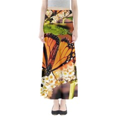 Monarch Butterfly Nature Orange Maxi Skirts