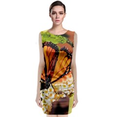 Monarch Butterfly Nature Orange Classic Sleeveless Midi Dress