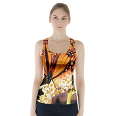 Monarch Butterfly Nature Orange Racer Back Sports Top