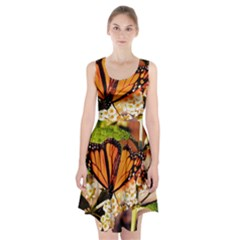 Monarch Butterfly Nature Orange Racerback Midi Dress