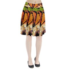 Monarch Butterfly Nature Orange Pleated Skirt