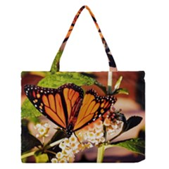 Monarch Butterfly Nature Orange Medium Zipper Tote Bag