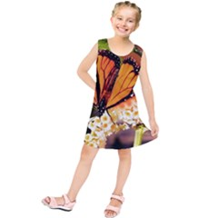 Monarch Butterfly Nature Orange Kids  Tunic Dress
