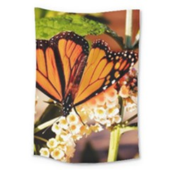Monarch Butterfly Nature Orange Large Tapestry