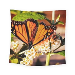 Monarch Butterfly Nature Orange Square Tapestry (small)