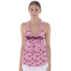 Pink Dreams Doodles Babydoll Tankini Top
