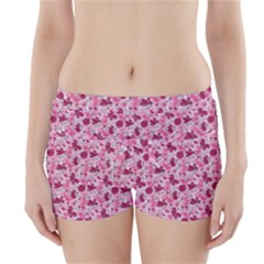 Pink Dreams Doodles Boyleg Bikini Wrap Bottoms