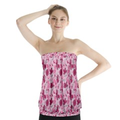 Pink Dreams Doodles Strapless Top