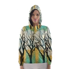 A Glowing Night Hooded Wind Breaker (women)