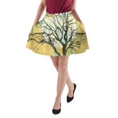 A Glowing Night A-Line Pocket Skirt