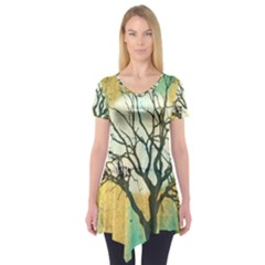 A Glowing Night Short Sleeve Tunic