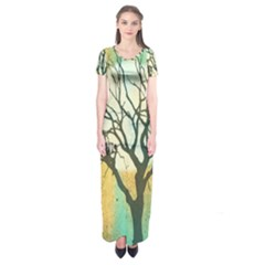 A Glowing Night Short Sleeve Maxi Dress