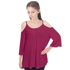 Deep red Flutter Tees