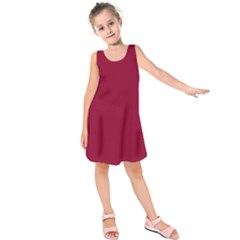 Deep red Kids  Sleeveless Dress