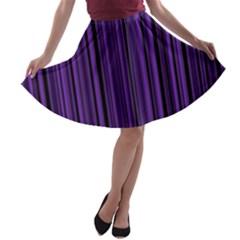 Purple A-line Skater Skirt