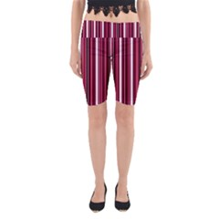Red lines Yoga Cropped Leggings