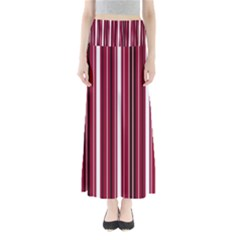 Red lines Maxi Skirts