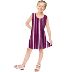 Red lines Kids  Tunic Dress