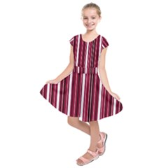 Red lines Kids  Short Sleeve Dress