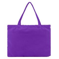 Purple Medium Zipper Tote Bag