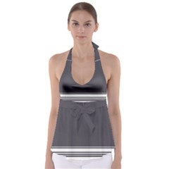 Gray Babydoll Tankini Top