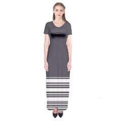 Gray Short Sleeve Maxi Dress