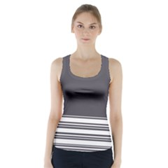 Gray Racer Back Sports Top