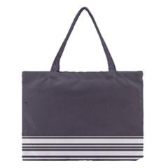Gray Medium Tote Bag