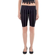 Black and white lines Yoga Cropped Leggings